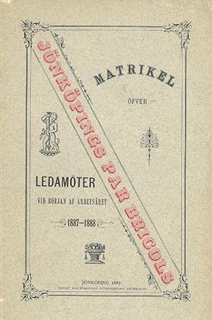 JPB Matrikel 1887-1888