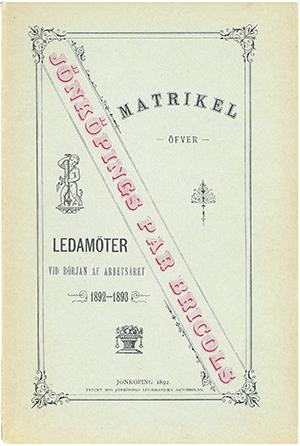 JPB Matrikel 1892-1893