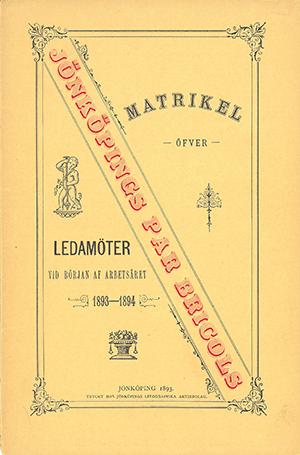 JPB Matrikel 1893-1894