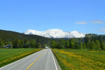 Norway road, road to mountains