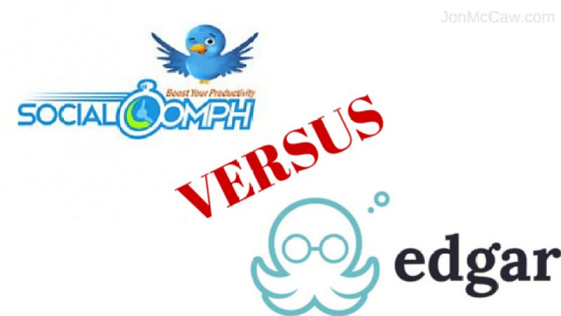 SocialOomph vs Edgar