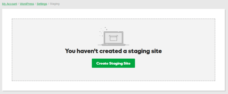 Start a WordPress Blog - Staging site