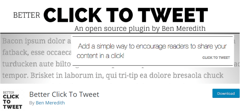 Plugins for WordPress - better click to tweet