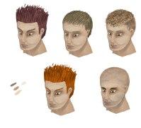 Male Hair Variations