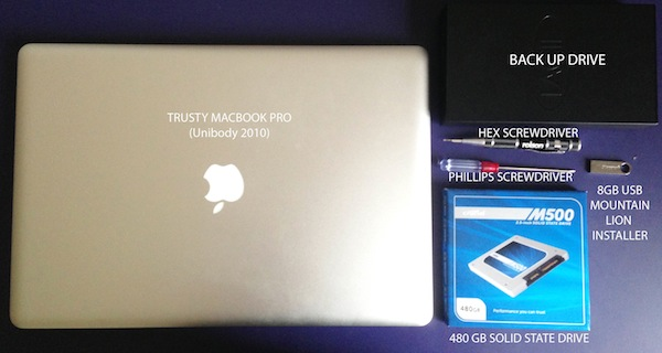 How to install an SSD drive in a MacBook Pro with a clean