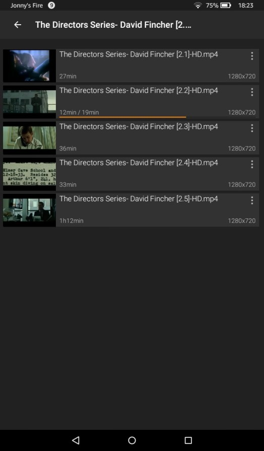 Video playlists on amazon fire 7 tablet