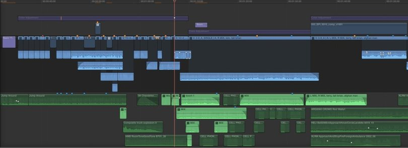 editing a feature in FCPX