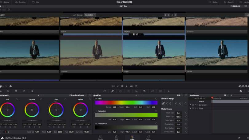 DaVinci Resolve Visual LUT Browser