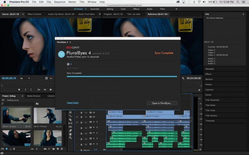PluralEyes 4 Premiere Pro Panel