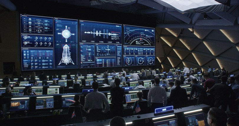 The Martian user interface visual effects
