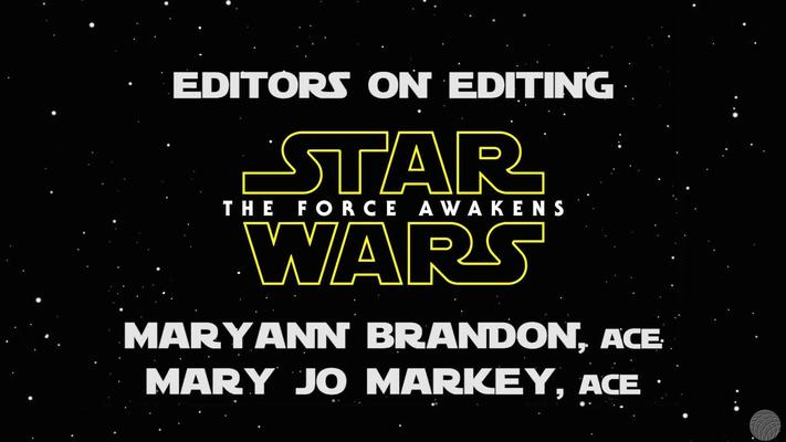 StarWars Force Awakens editors