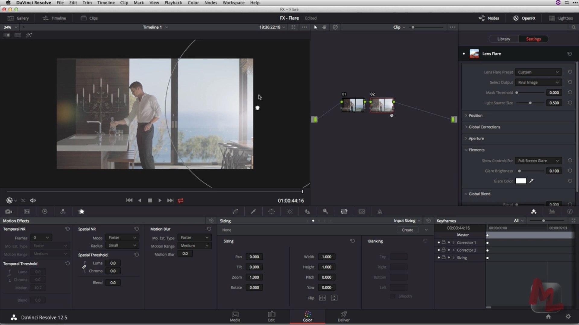 ResolveFX Lens Flare tutorials