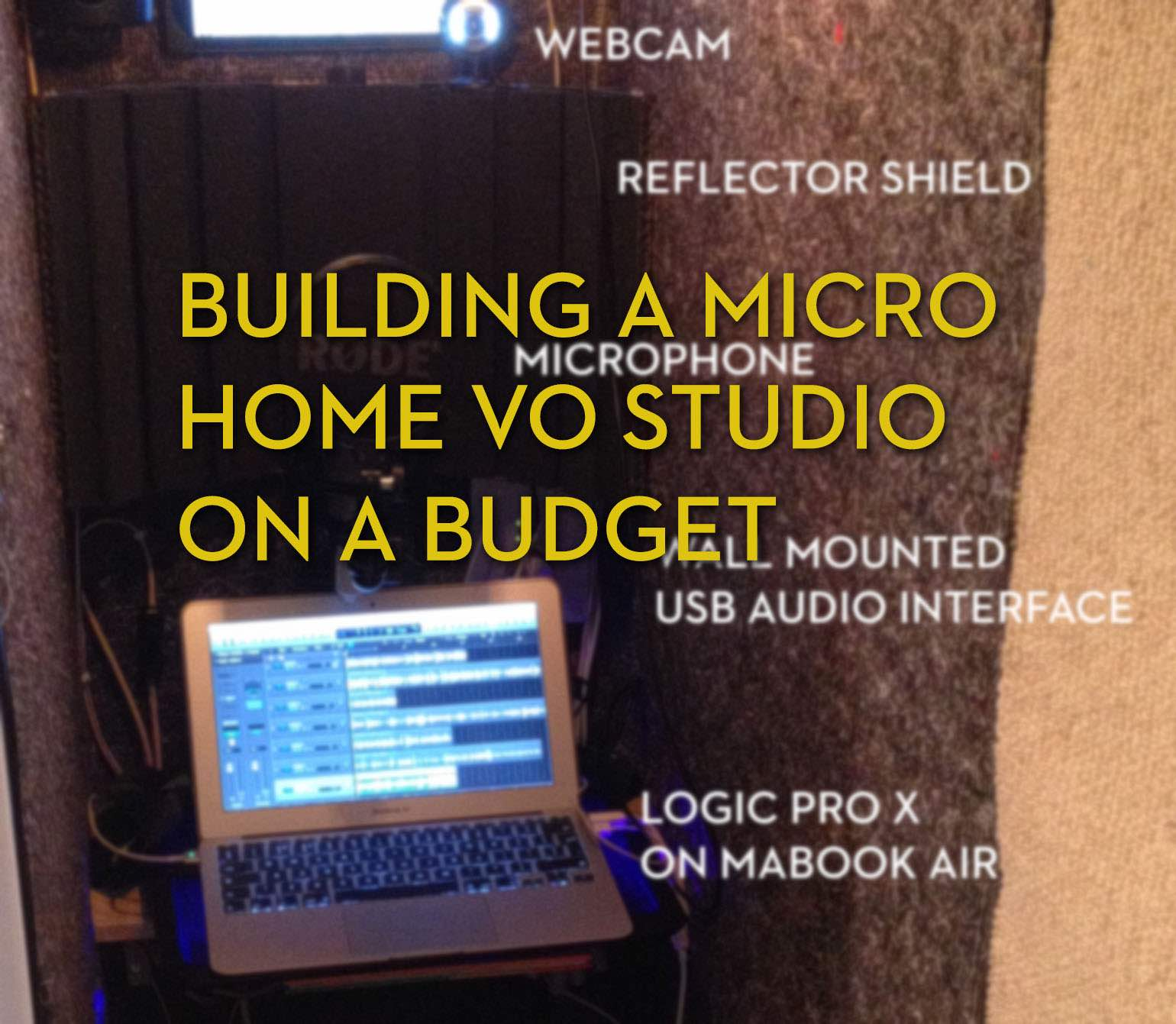 how to build at home recording studio