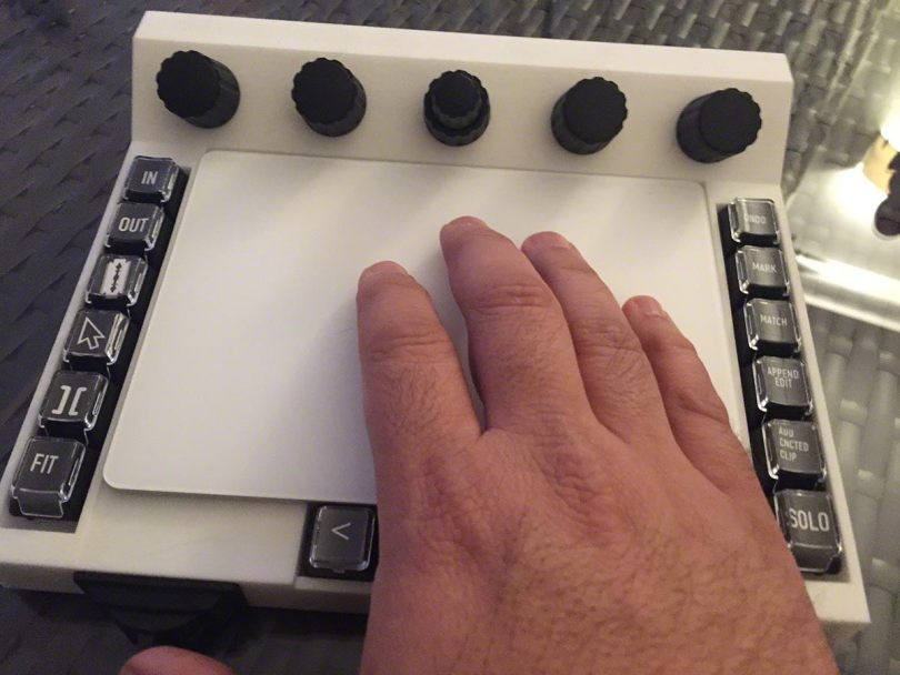Custom built trackpad interface for video editing