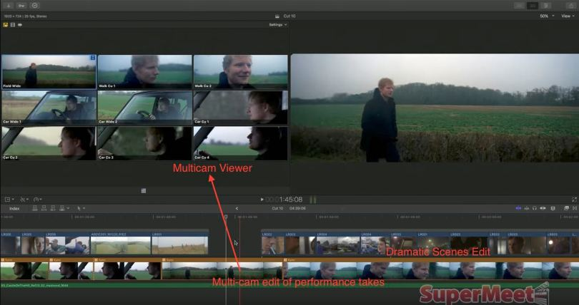 multicam music video editing in fcpx