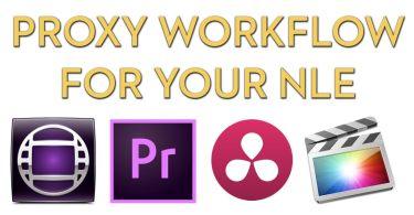 Avid Media Composer FCPX Premiere Pro Proxy Workflows
