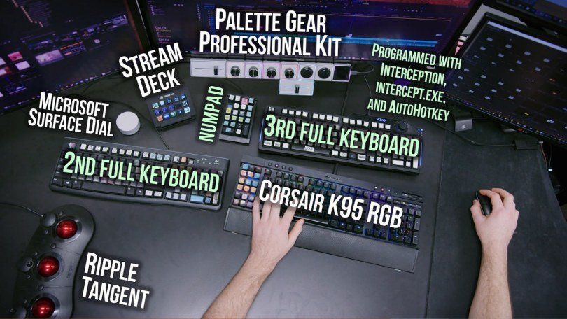 Keyboards for film editing