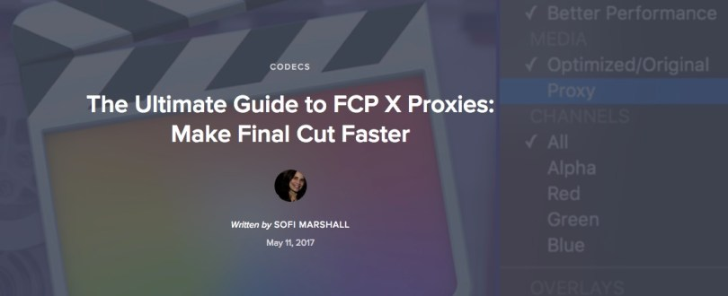 FCPX proxy workflow step by step guide