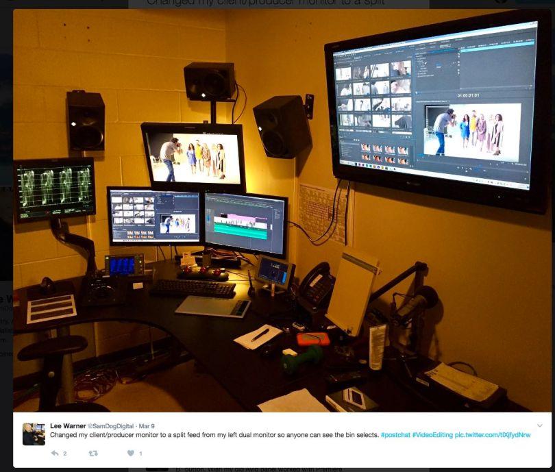 Inside film Edit suites