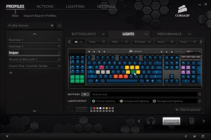 film editing keyboards corsair customising software