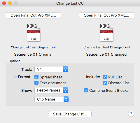 creating change lists in premiere pro cc