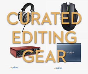 Curated Film Editing Gear on Amazon