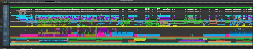 editing timelines from hollywood movies