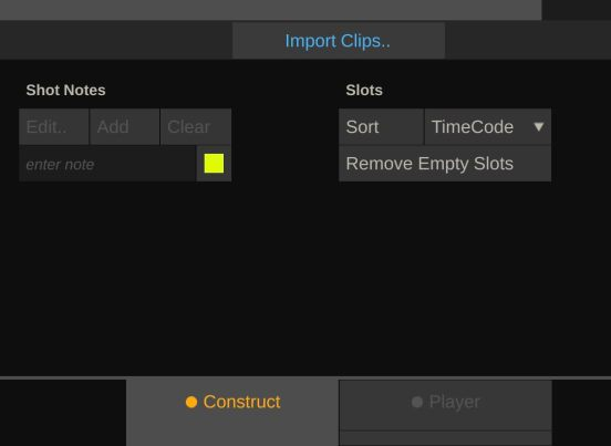 Import clips into scratch play pro