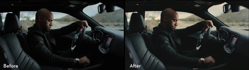 Before and After colour grading