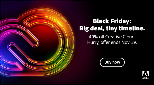 Adobe Creative Cloud Black Friday Sale