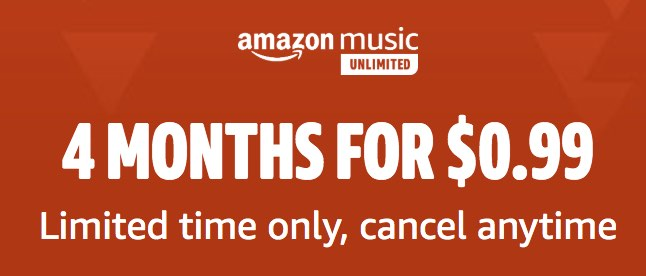 Amazon Unlimited Music Offer