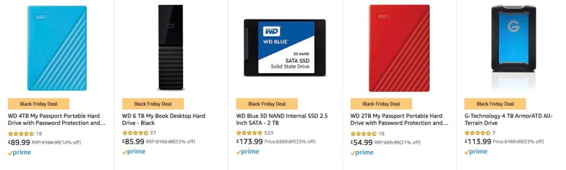 Amazon Black Friday Deals on hard drives