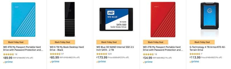 Amazon Black Friday Deals on hard drives