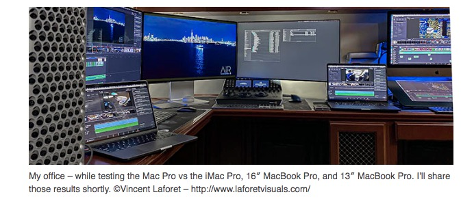 Vincent LaForest on 2019 mac Pro