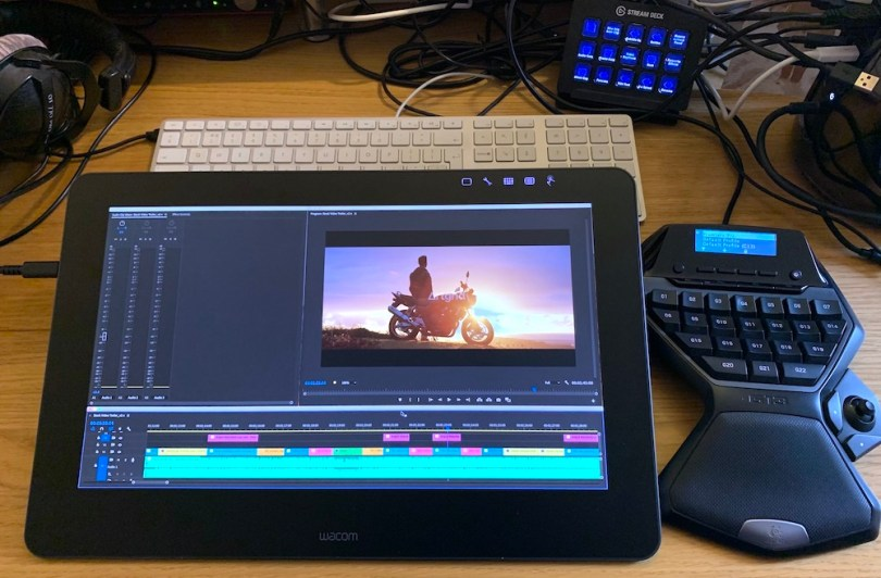 using a wacom cintiq 16 pro tablet for video editing in premiere pro