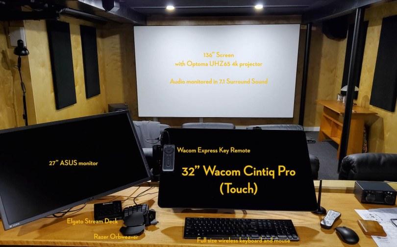 Alan Edward Bell Home Theatre Edit Suite Set Up