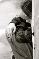 Offender by wall - Linda Yolanda - iStock_000007765018XSmall