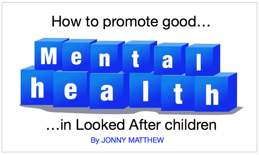How to promote good mental health…
