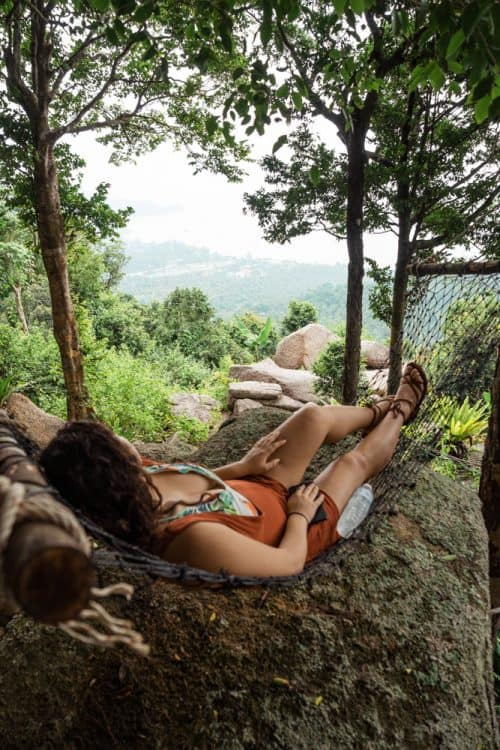 Hammock chills at Sunset Viewpoint Koh Tao