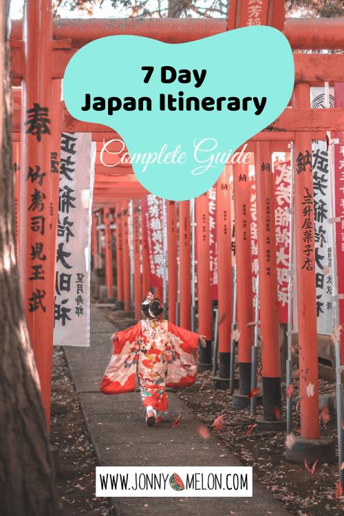 7 Day Japan Itinerary
