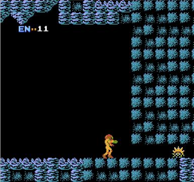 Metroid for NES, screenshot 2