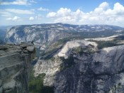 Yosemite valley CA from the top of Half Dome