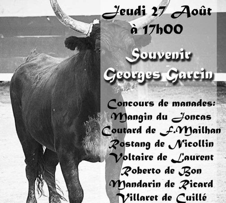 Course de taureaux Souvenir Georges Garcin