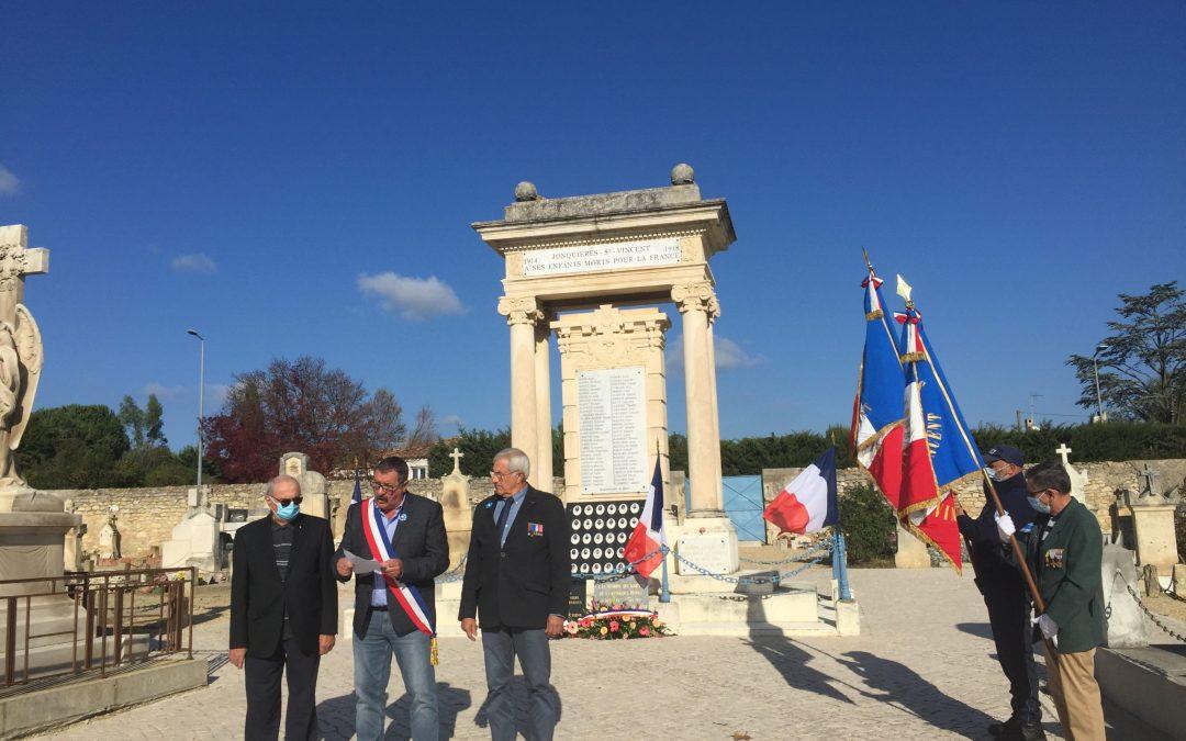 Commémoration du 11 Novembre dans un contexte difficile