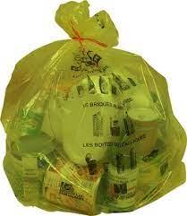 La collecte des sacs jaunes aura lieu comme habituellement mercredi 14 Juillet