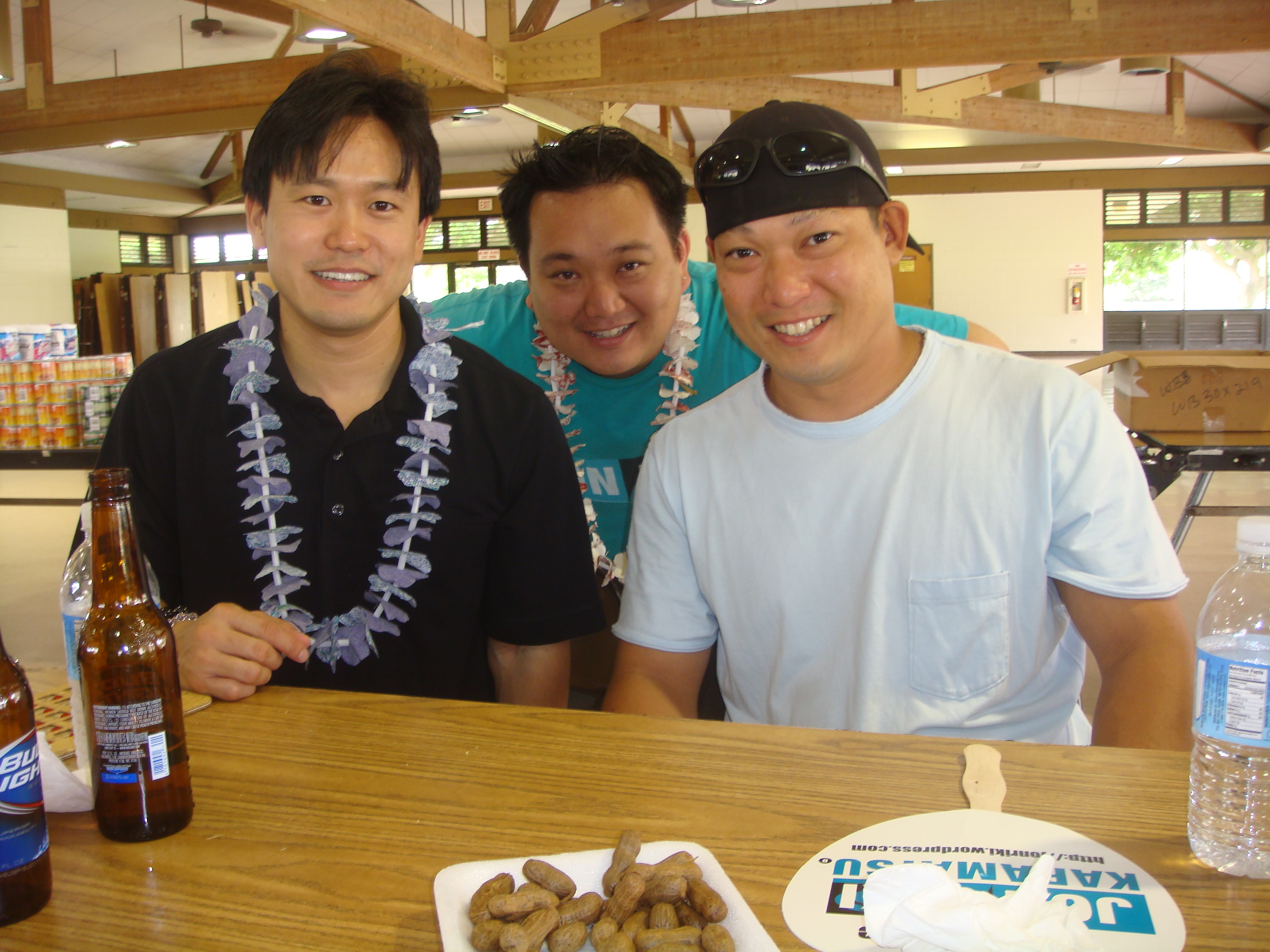 Rep. Jon Riki Karamatsu, Jon Nishihara, and Colin Okumura
