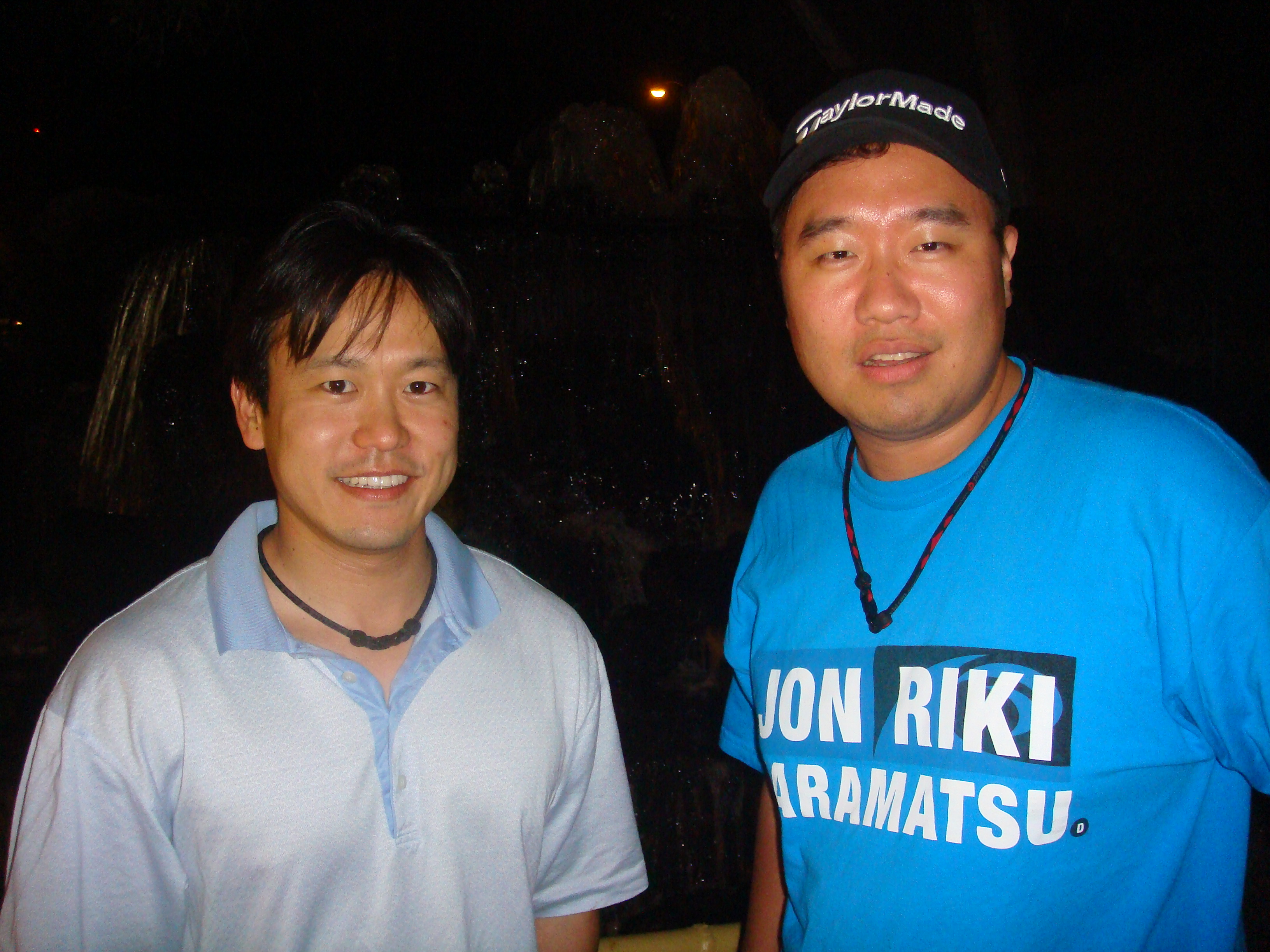 Rep. Jon Riki Karamatsu and Campaign Chair Brandon R. Mitsuda after a long day of campaigning.