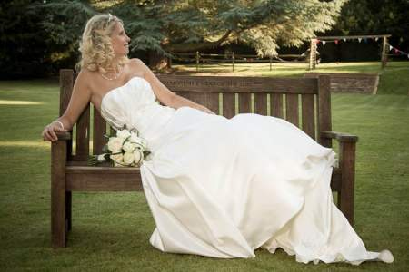 Bride Donna on a bench