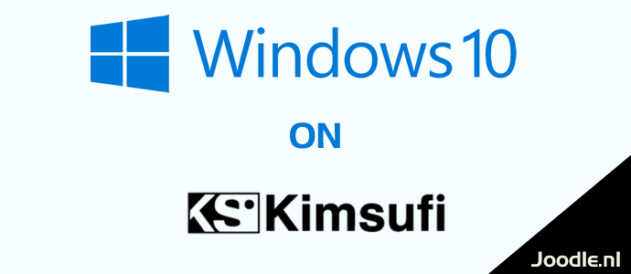 install windows 10 on kimsufi