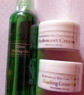 Green peeling oil with 2 Hydrocort cream new